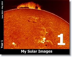 Solar Images My First Year